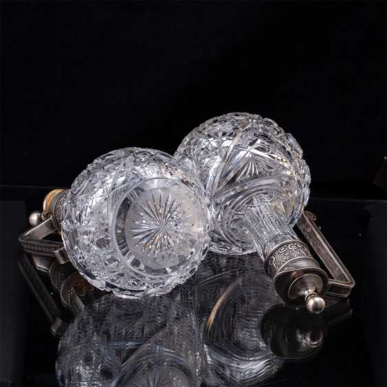 Pair of crystal decanters. Faberge - photo 4
