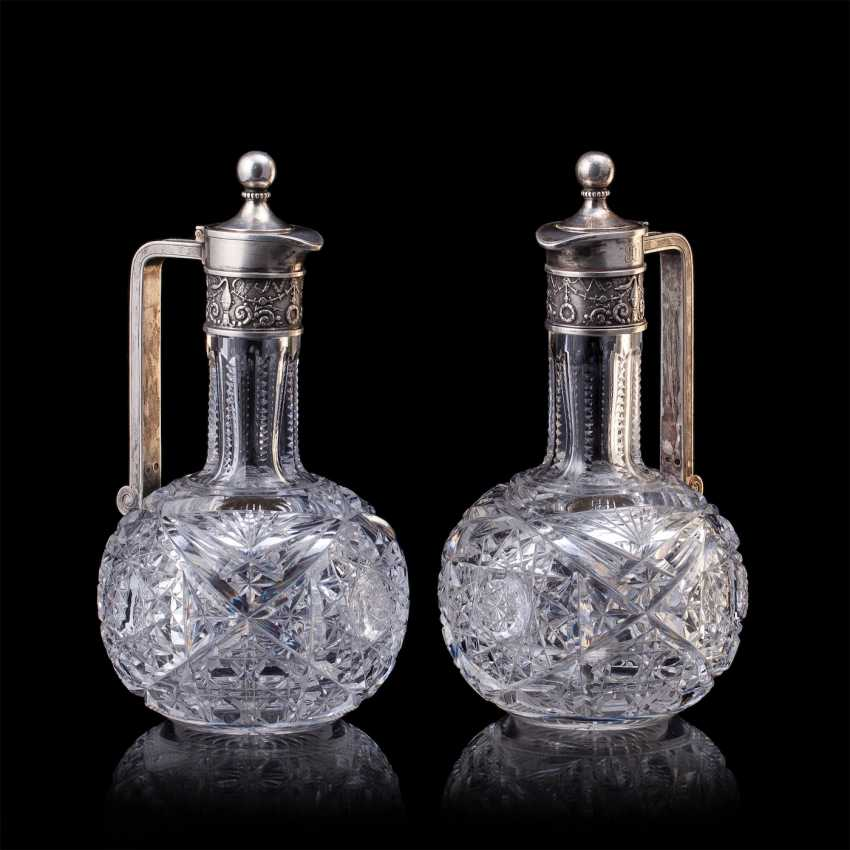 Pair of crystal decanters. Faberge - photo 6