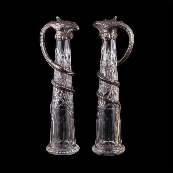 Pair of rare crystal decanters. K. Linke - photo 1