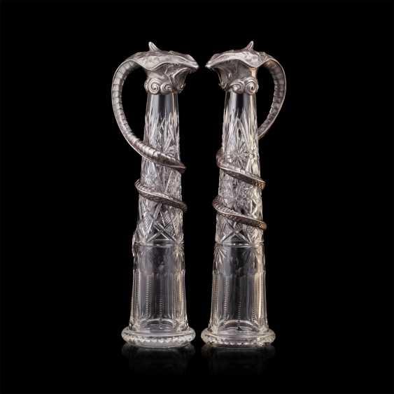 Pair of rare crystal decanters. K. Linke - photo 4