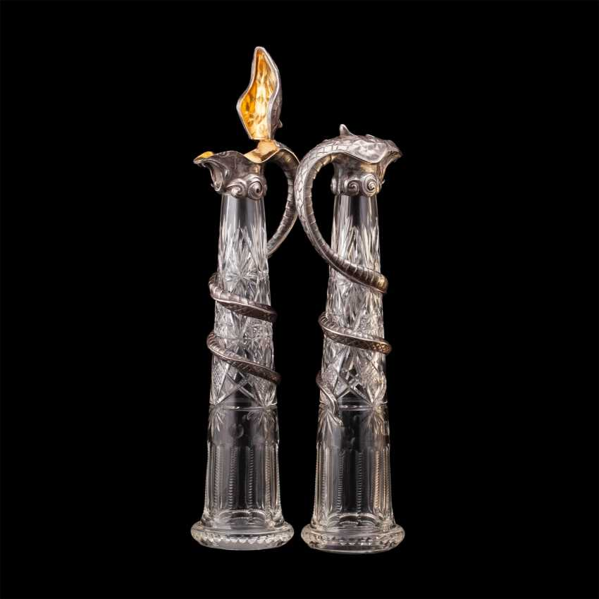Pair of rare crystal decanters. K. Linke - photo 5