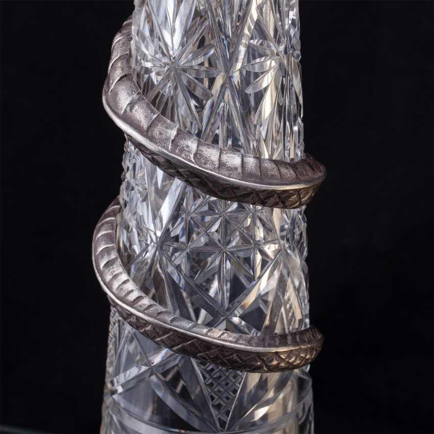 Pair of rare crystal decanters. K. Linke - photo 9