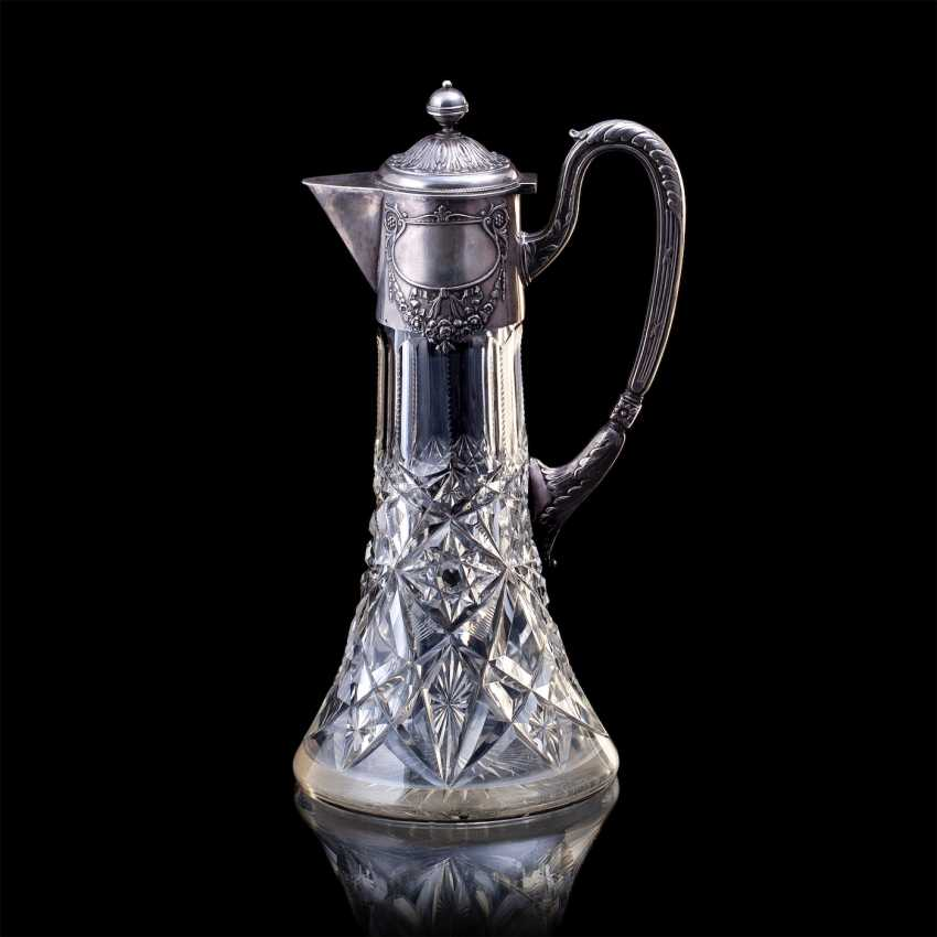 A large crystal decanter. Factory Khlebnikov - photo 1
