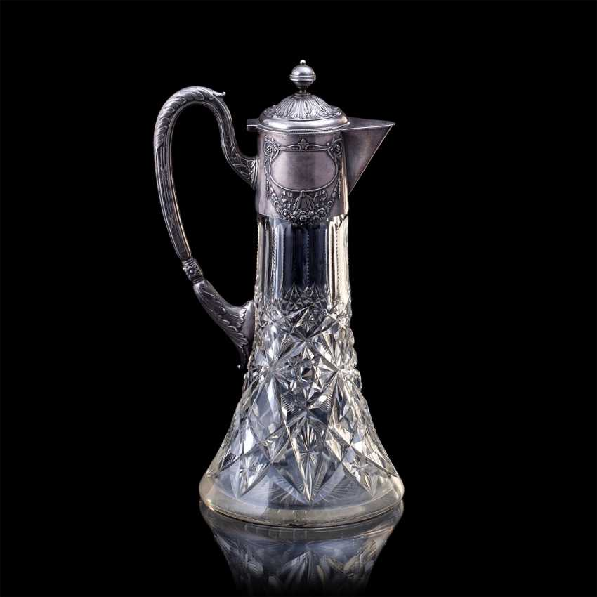 A large crystal decanter. Factory Khlebnikov - photo 2