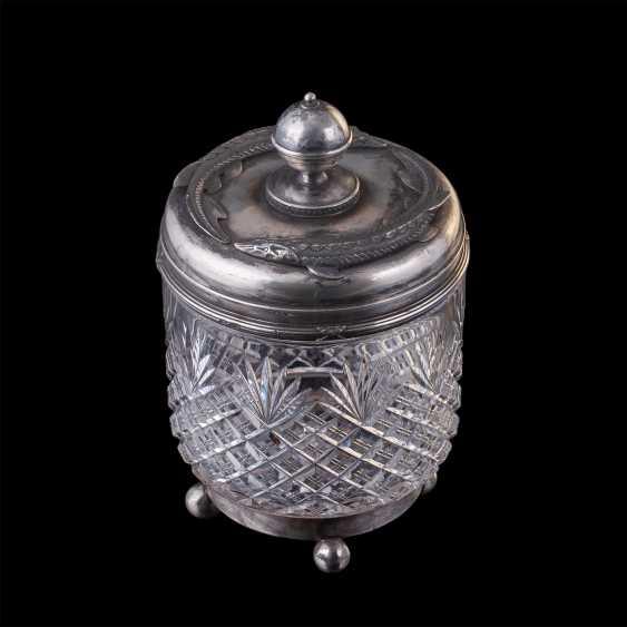 Crystal vase caviar with sturgeon. Faberge - photo 1