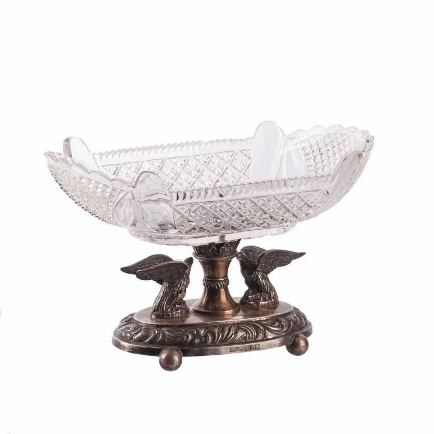 Crystal vase with swans. Petersburg - photo 1