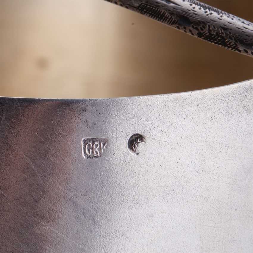 Russian silver ladle. Moscow - photo 4