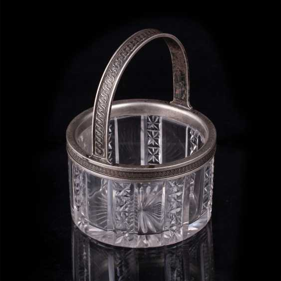 Russian crystal candy dish. Faberge - photo 2