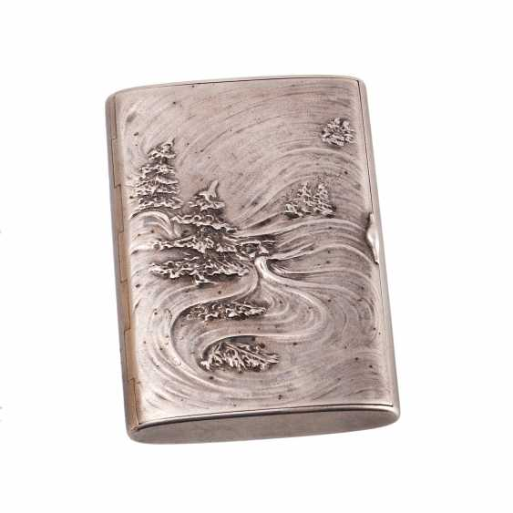 Russian silver cigarette case. Faberge - photo 1