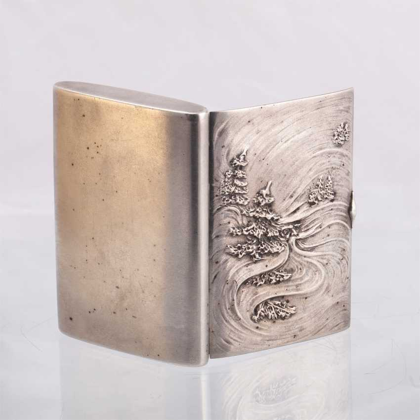 Russian silver cigarette case. Faberge - photo 2