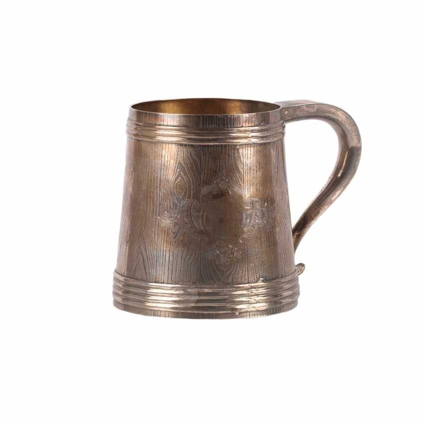 A massive Russian silver mug - photo 1