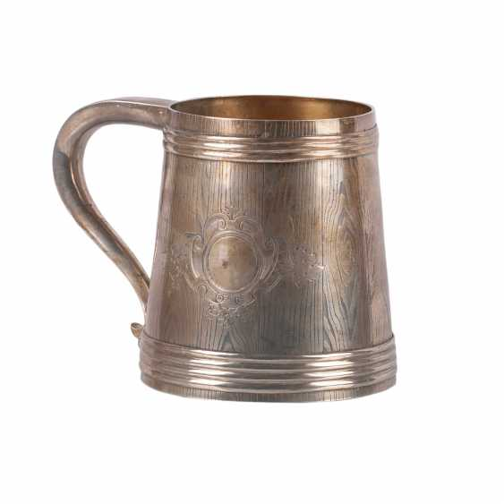 A massive Russian silver mug - photo 2