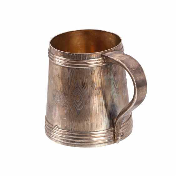 A massive Russian silver mug - photo 3