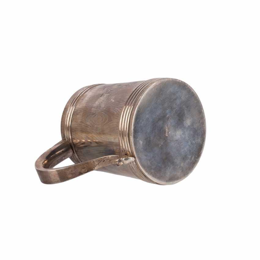 A massive Russian silver mug - photo 4