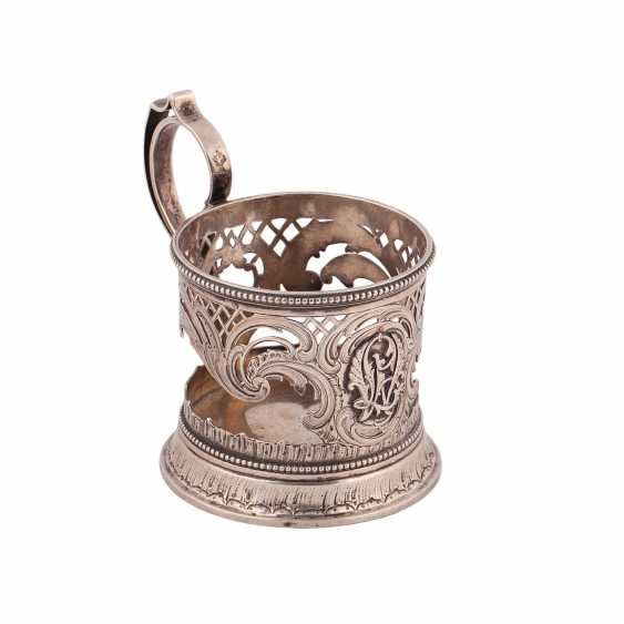 Russian silver Cup holder. Factory Morozova - photo 1