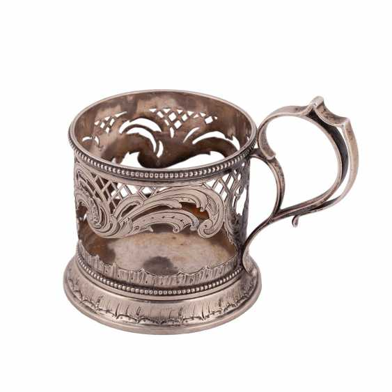 Russian silver Cup holder. Factory Morozova - photo 3