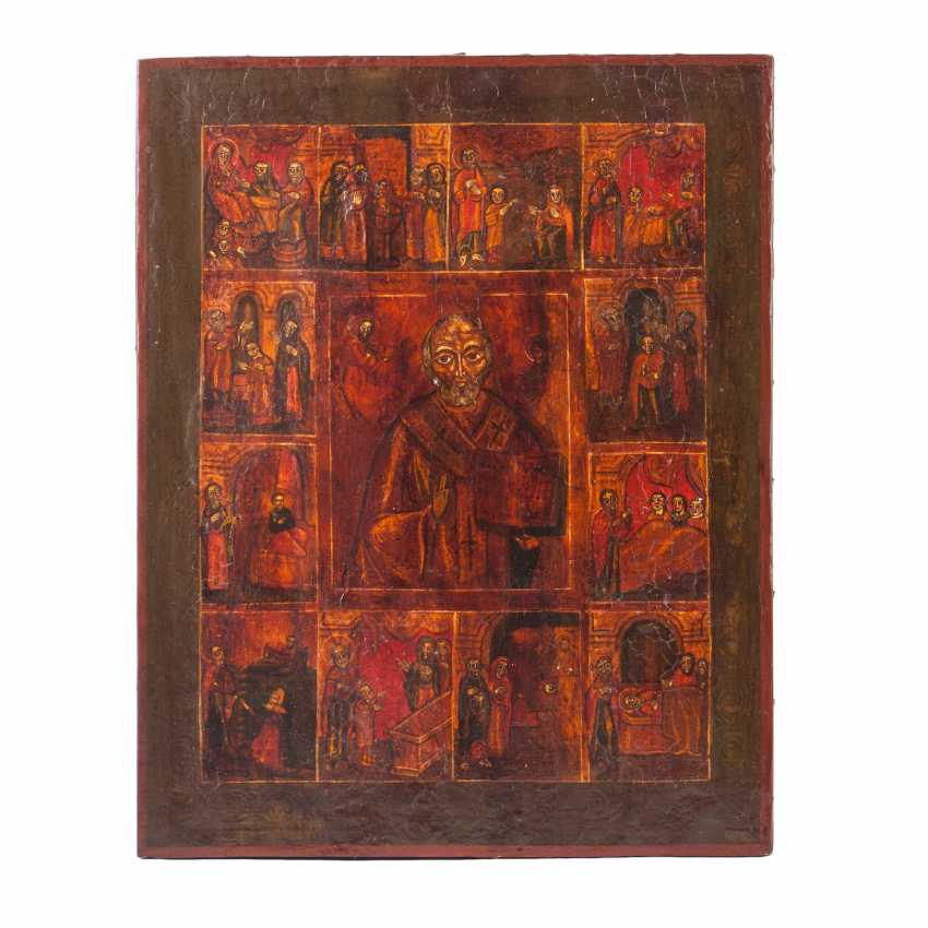 Hagiographical icon of St. Nicholas the Wonderworker - photo 2