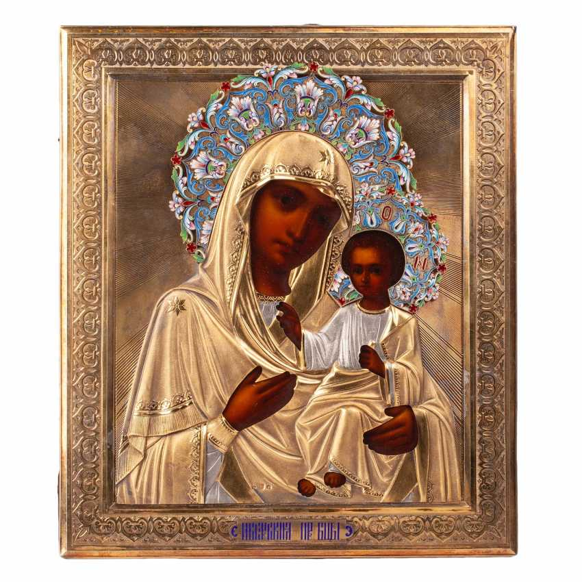 """Russian icon """"our lady of Iveron"""" - photo 1"""