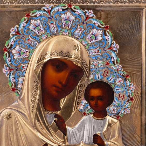 """Russian icon """"our lady of Iveron"""" - photo 2"""