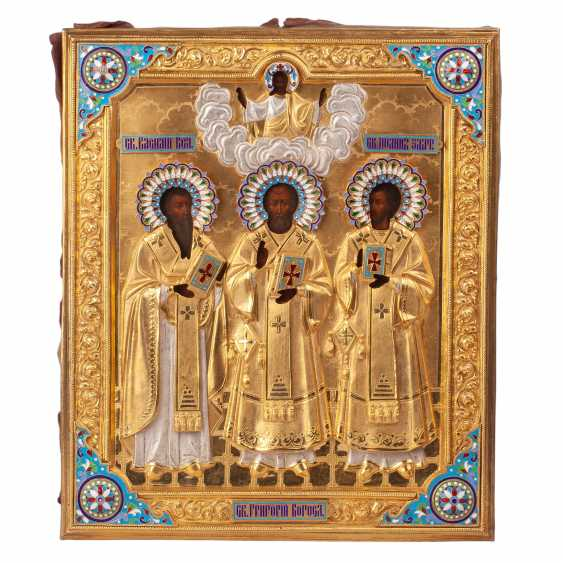 "Russian icon of ""the three hierarchs"" - photo 1"