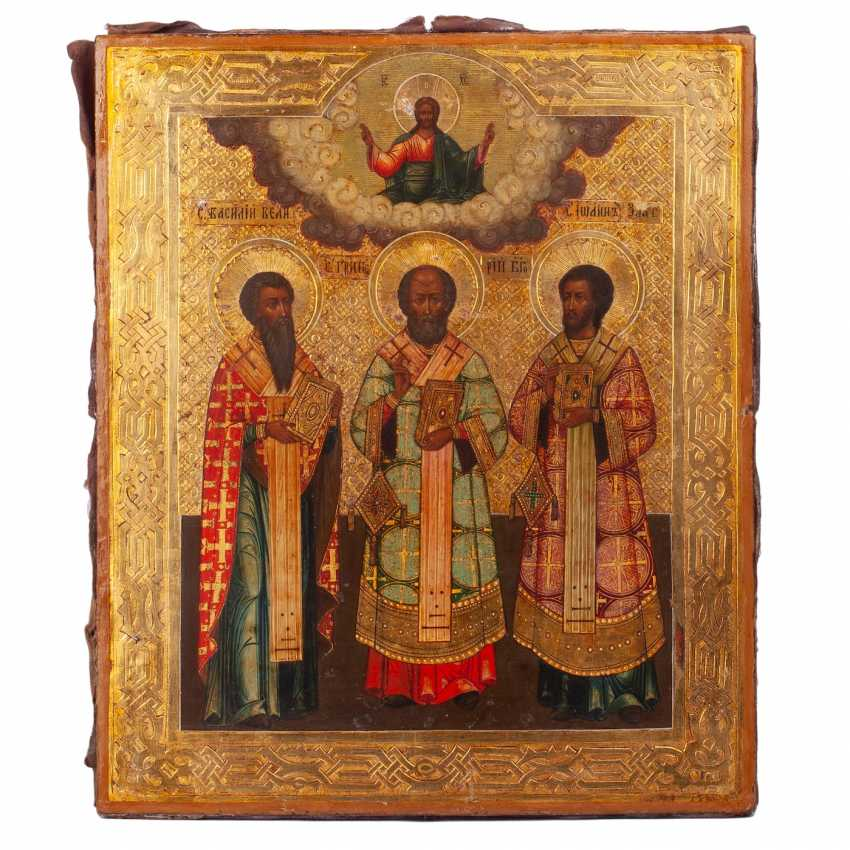 "Russian icon of ""the three hierarchs"" - photo 3"