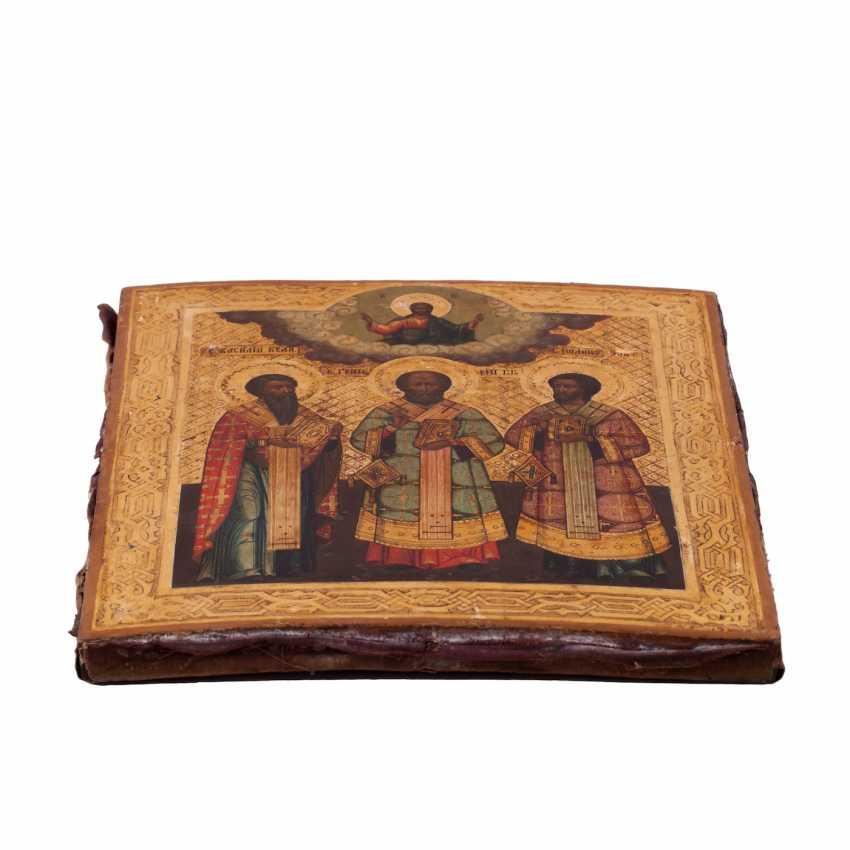 "Russian icon of ""the three hierarchs"" - photo 7"