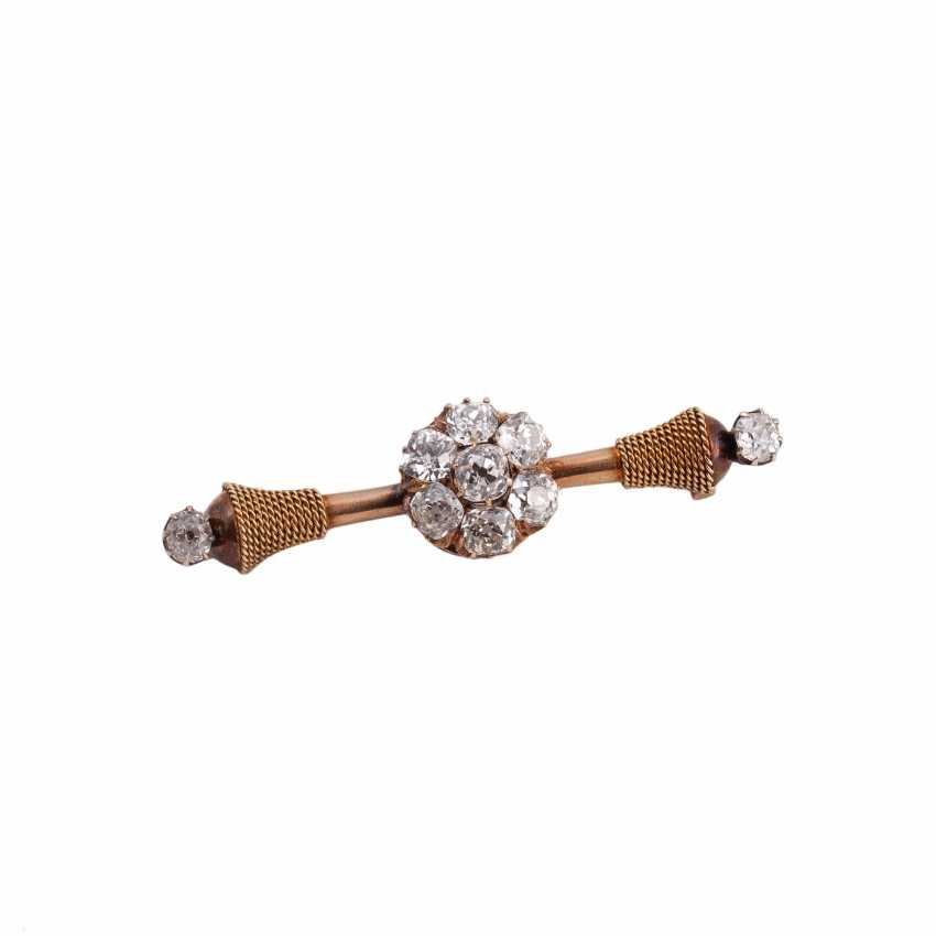 Russian gold brooch with diamonds - photo 1