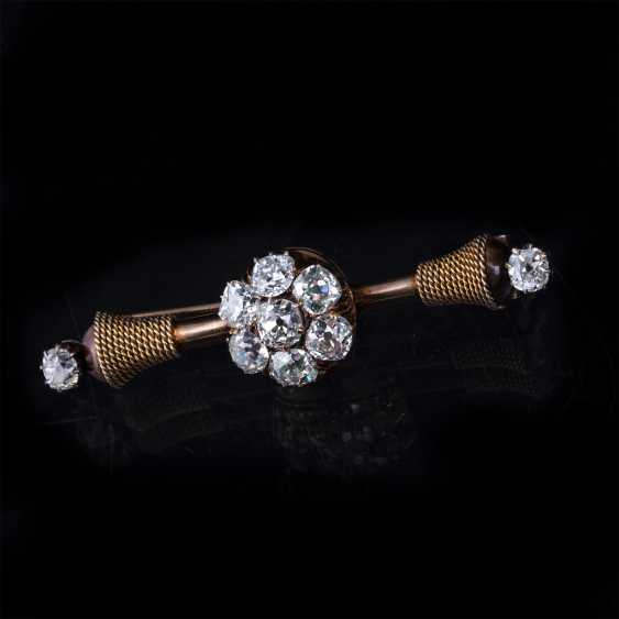 Russian gold brooch with diamonds - photo 4