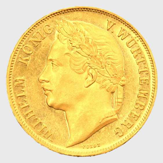 On the Reg.anniversary, William I. / Württemberg - 4 ducats 1841, - photo 1