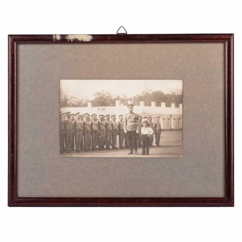 Photograph of Emperor Nicholas II with Tsarevich Alexei - photo 1
