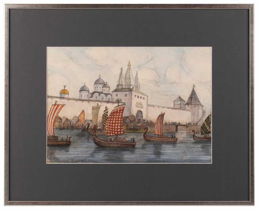 "Drawing ""the Varangian ships in Veliky Novgorod"" - photo 1"