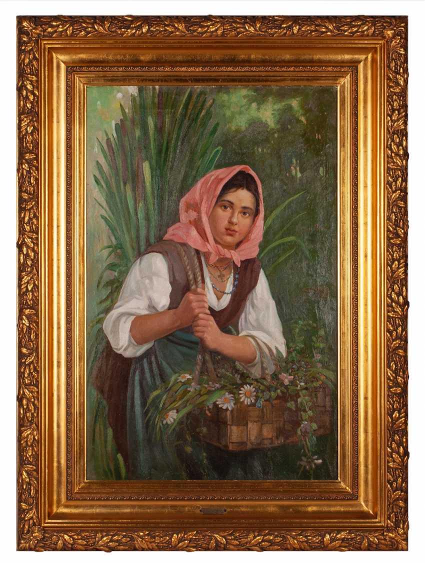 "Babadin V. ""Girl with basket of flowers"" - photo 1"