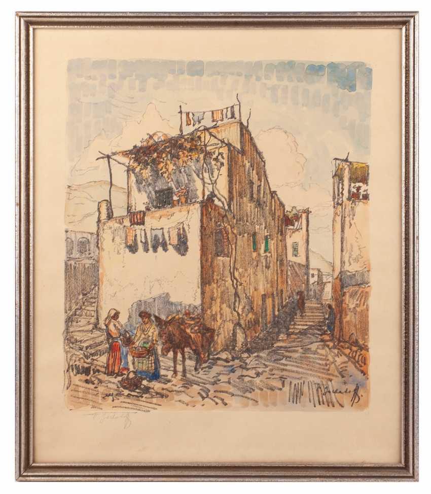 """Gorbatov K. I. """"a Street scene in Capri"""" - photo 1"""