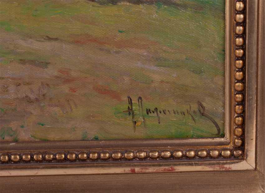 Лажечников А. И. «Сельский пейзаж с избами» - фото 2