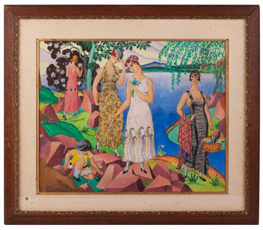 Khodasevich, V. M., composition with women on the lake - photo 1