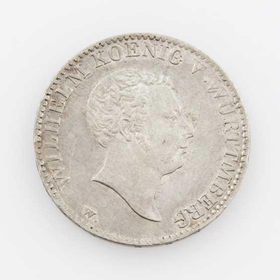Württemberg 1 Gulden 1825, with Wurttmberg (!), Wilhelm I., Jaeger, 53b, - photo 1
