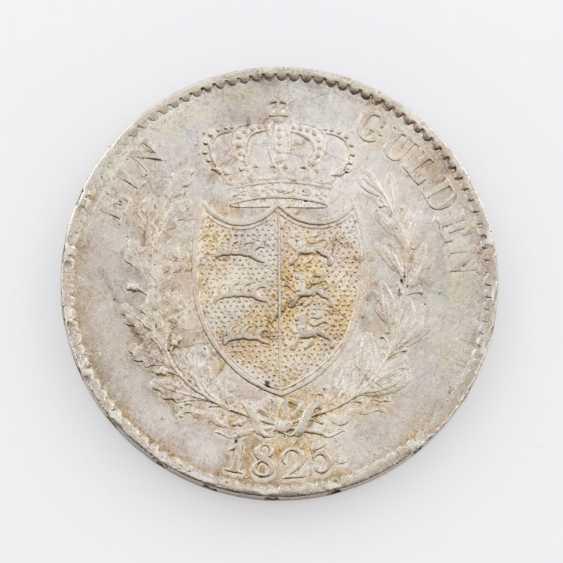 Württemberg 1 Gulden 1825, with Wurttmberg (!), Wilhelm I., Jaeger, 53b, - photo 2
