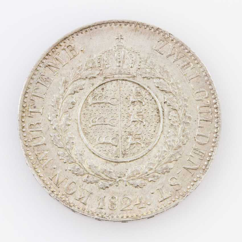 Württemberg - double Gulden of 1824, without P. B., W under the coat-of-arms without a point, - photo 2