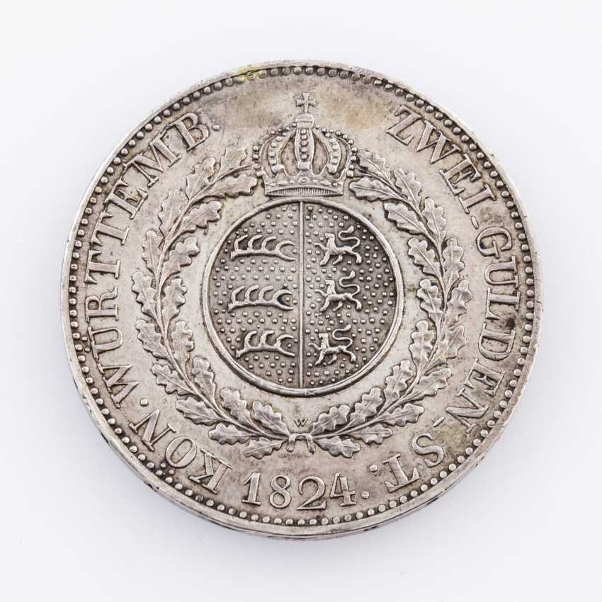 Württemberg - Wilhelm I., 1816-1864. 2 Gulden 1824. WITHOUT the signature, P. B., - photo 2