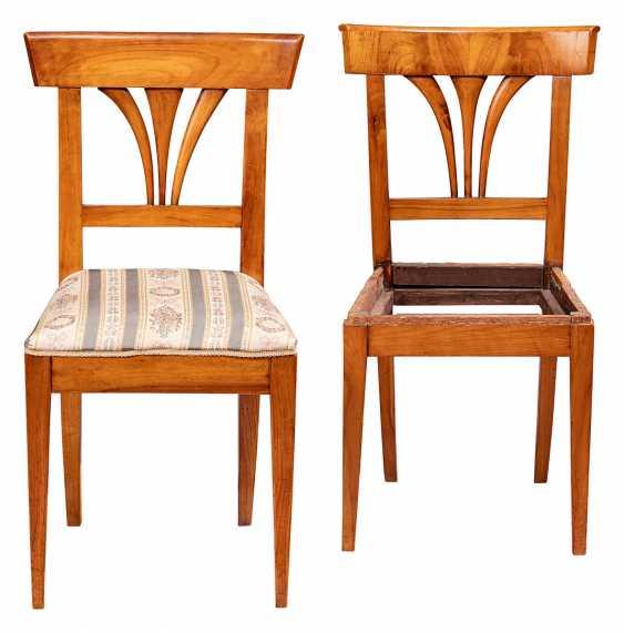 Pair Of Biedermeier Chairs - photo 1
