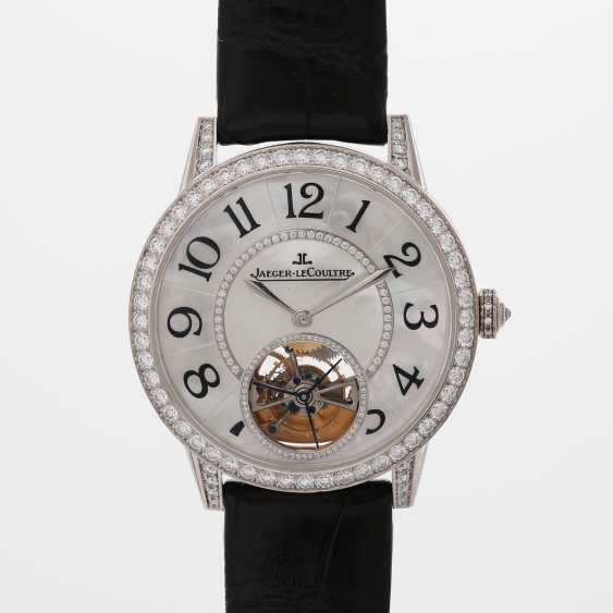"JAEGER LE COULTRE watch ""the Master Tourbillon 39 set"". Case in 18K white gold, bes. with diamonds - photo 4"