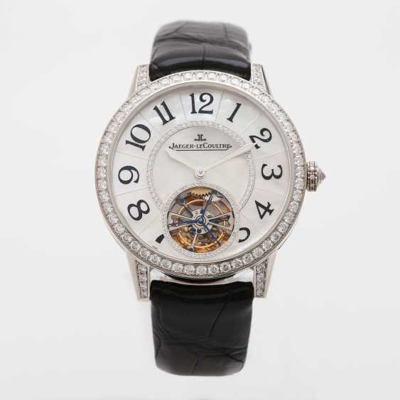 "JAEGER LE COULTRE watch ""the Master Tourbillon 39 set"". Case in 18K white gold, bes. with diamonds - photo 1"