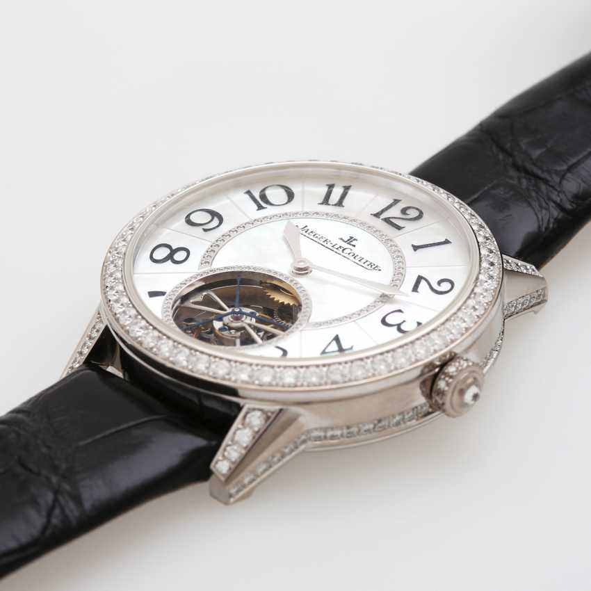 "JAEGER LE COULTRE watch ""the Master Tourbillon 39 set"". Case in 18K white gold, bes. with diamonds - photo 5"