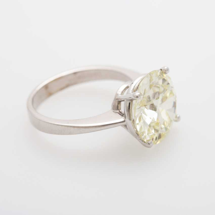 Solitaire ring bes. m. a diamond in the modernised old European cut 7,21 ct - photo 2