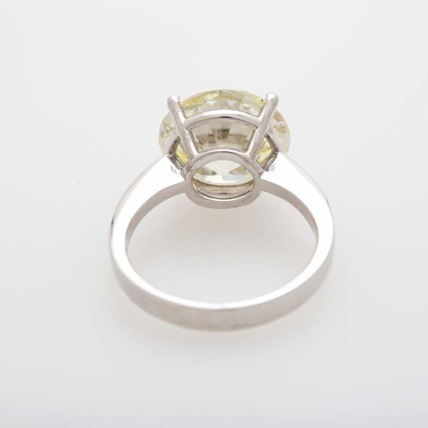 Solitaire ring bes. m. a diamond in the modernised old European cut 7,21 ct - photo 3