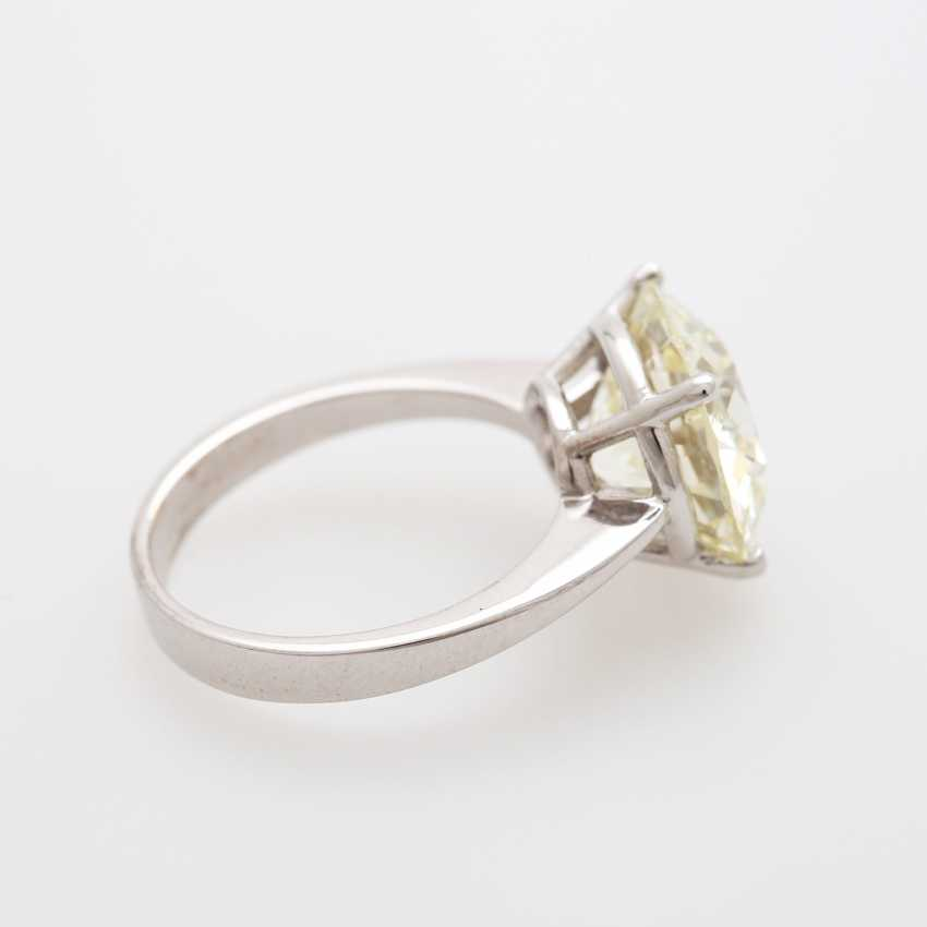 Solitaire ring bes. m. a diamond in the modernised old European cut 7,21 ct - photo 4