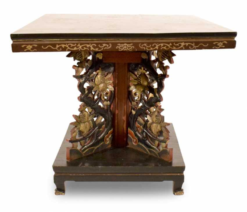 Table With Lacquer Decoration, China, - photo 1