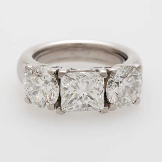 Ladies ring filled W / 3 diamonds - photo 1