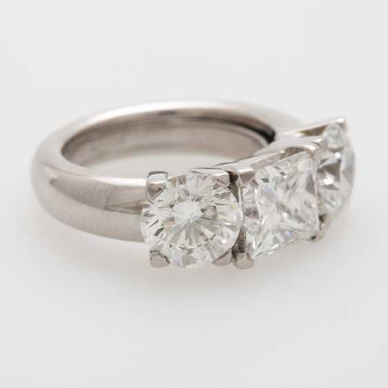 Ladies ring filled W / 3 diamonds - photo 2
