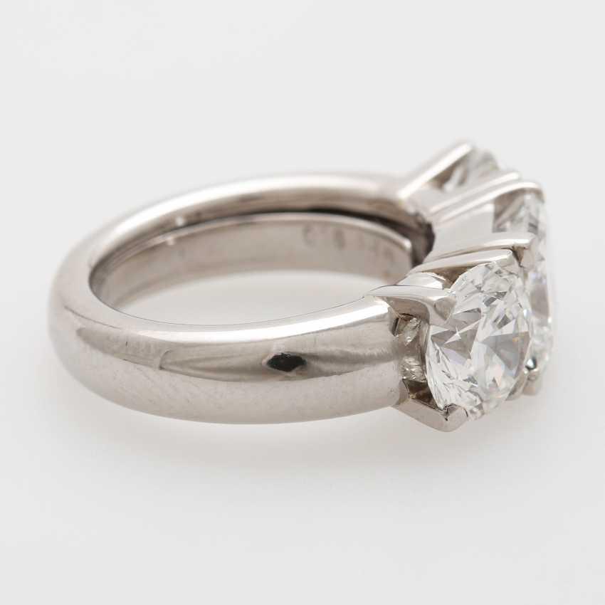 Ladies ring filled W / 3 diamonds - photo 3